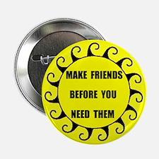 "MAKE FRIENDS 2.25"" Button (100 pack)"
