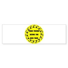 MAKE FRIENDS Bumper Bumper Sticker