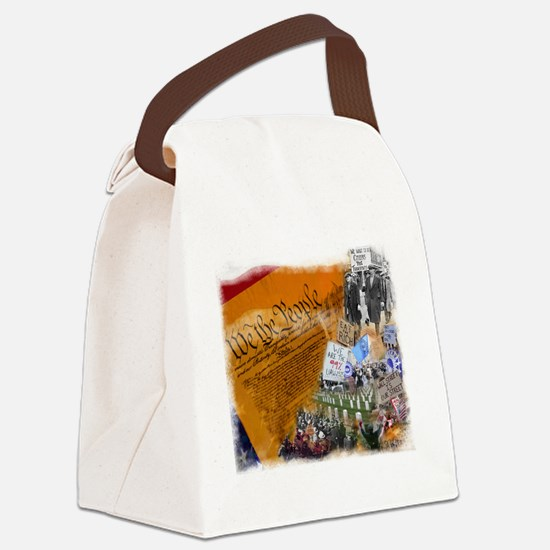 We The People Collage Canvas Lunch Bag