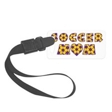 wh purple gold, Mom Luggage Tag