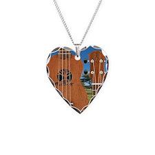 aNueNue Elephant uke Necklace Heart Charm