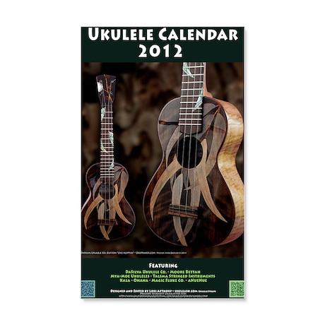 Ukulele Calendar 2012 cover 20x12 Wall Decal