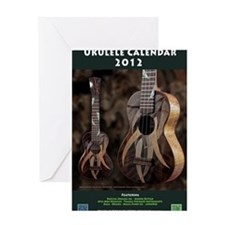Ukulele Calendar 2012 cover Greeting Card