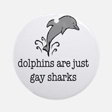 dolphins final Round Ornament