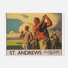 St. Andrews Scotland Vintage Golf Poster 5'x7'Area