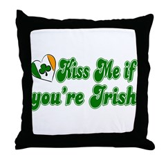 Kiss Me if You're Irish Throw Pillow