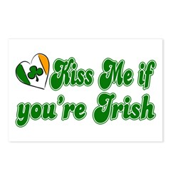 Kiss Me if You're Irish Postcards (Package of 8)