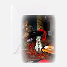 SantasStopMATTE Greeting Card