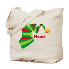 Personalized Elf Hat Tote Bag