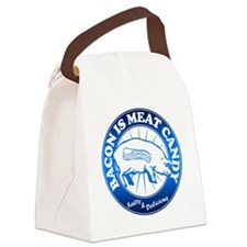 Meat Candy On White Black Burst B Canvas Lunch Bag