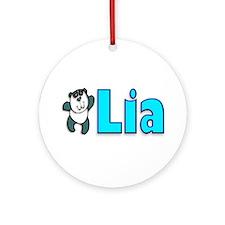 Lia Panda Ornament (Round)