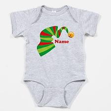 Personalized Elf Hat Baby Bodysuit