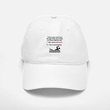 Two Things Swimming Baseball Baseball Cap