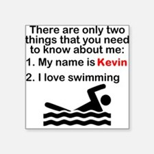 Two Things Swimming Sticker