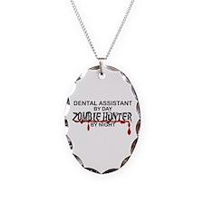 Zombie Hunter - Dental Asst Necklace Oval Charm