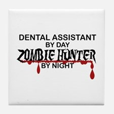 Zombie Hunter - Dental Asst Tile Coaster