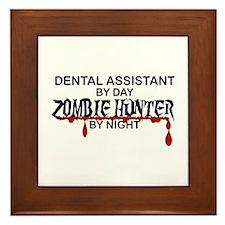 Zombie Hunter - Dental Asst Framed Tile