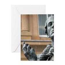 Sligo. Close-up of bronze statue of  Greeting Card
