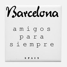 Barcelona_10x10_apparel_Amigos para s Tile Coaster