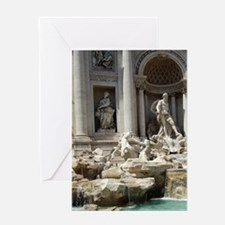 Italy, Rome. Trevi Fountain Greeting Card