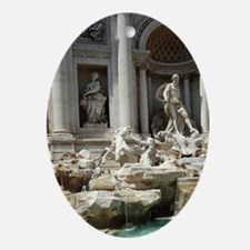 Italy, Rome. Trevi Fountain Oval Ornament