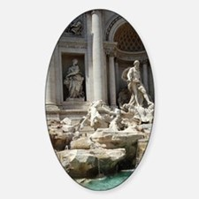 Italy, Rome. Trevi Fountain Sticker (Oval)