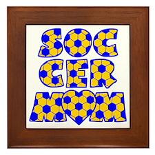 blue gold, Mom Block Framed Tile