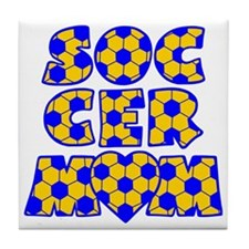blue gold, Mom Block Tile Coaster