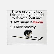 Two Things Hockey Throw Blanket