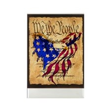 We The People Eagle Flag Rectangle Magnet