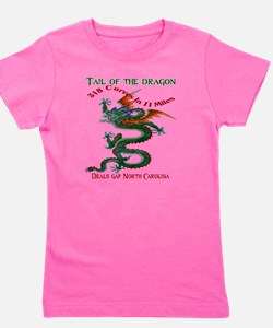 Tail of the Dragon 318 Curves in 11 Mil Girl's Tee