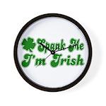 Spank Me I'm Irish Wall Clock
