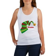 Personalized Elf Hat Women's Tank Top