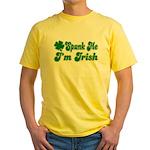 Spank Me I'm Irish Yellow T-Shirt