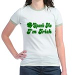 Spank Me I'm Irish Jr. Ringer T-Shirt