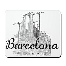 Barcelona_10x8_MessageBag_LaSagradaFamil Mousepad