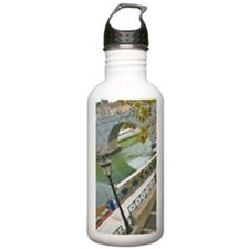 Bicyclist along the Ti Water Bottle