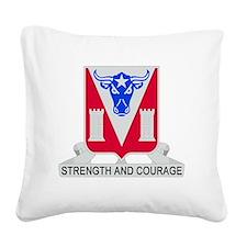 82d Engineer Battalion Square Canvas Pillow