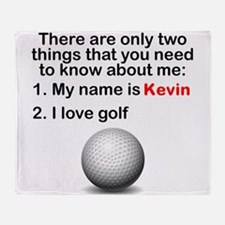 Two Things Golf Throw Blanket
