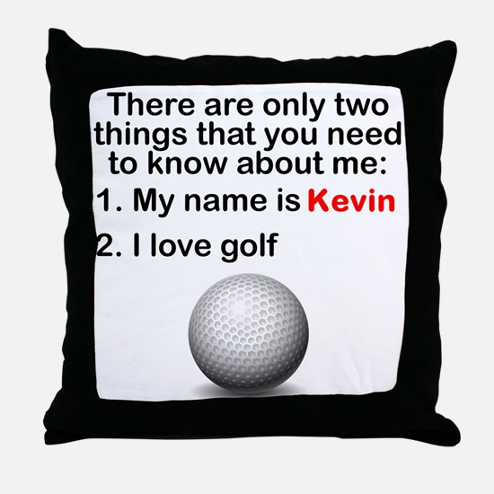Two Things Golf Throw Pillow