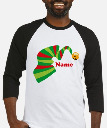 Personalized Elf Hat Baseball Jersey