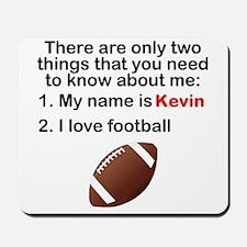 Two Things Football Mousepad