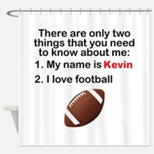 Two Things Football Shower Curtain