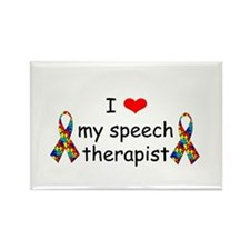 i love my speech therapist Magnets