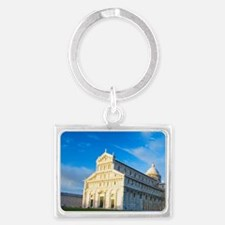 Italy, Pisa, Duomo and Leaning  Landscape Keychain
