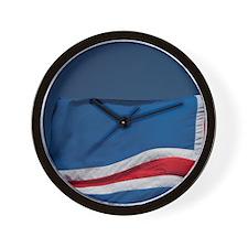 Icelandic flag. Wall Clock