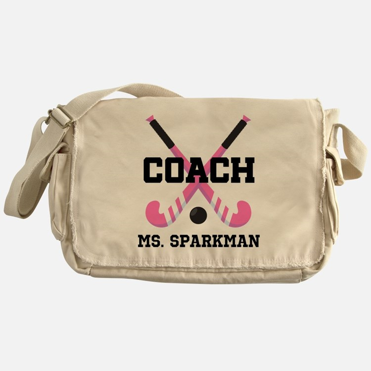 Personalized Hockey Coach Messenger Bag