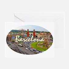 Barcelona_4.58x2.91_tmug_PlazaDeEspa Greeting Card