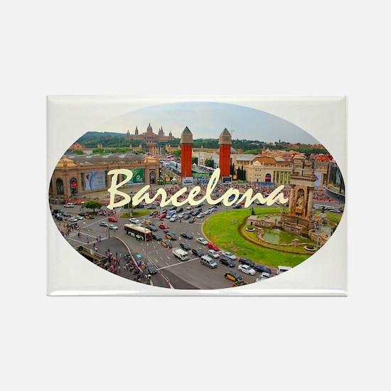 Barcelona_4.58x2.91_tmug_PlazaDeE Rectangle Magnet