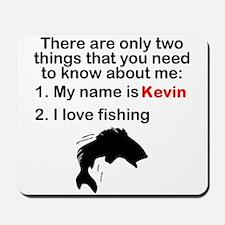 Two Things Fishing Mousepad